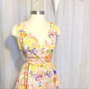 LIZ CLAIBORNE Floral Fit & Flare Poplin Dress 4